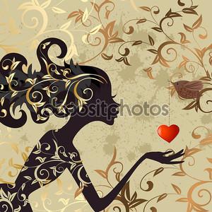 Девочка и птица с Валентина