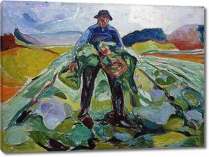 Эдвард Мунк. Мужчина на капустном поле