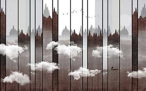 Очертания города на заборе