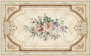 Потолочный плафон из цветов