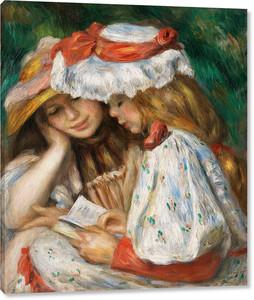 Ренуар. Две девочки читают