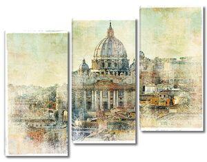 Ватикан - картина в стиле ретро
