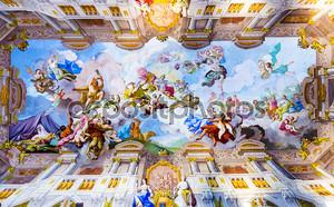 Роспись потолка в Мельке