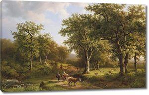 Коровы в лесу