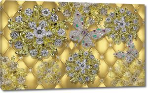 Цветы бриллианты