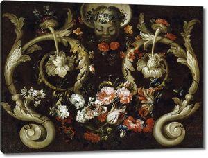 Габриэль де ла Корте. Маска с розами и тюльпанами