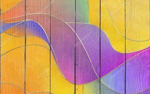 Разноцветные волны с золотыми краями