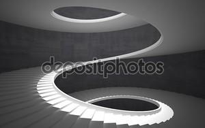 Винтовая лестница черно-белая