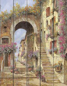 Улочка арка и лестница