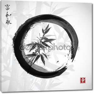 Bamboo trees in black circle