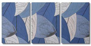 Абстракция из синих листьев