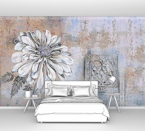 Цветок на старой стене