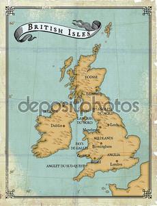 Вековые карте Британские острова