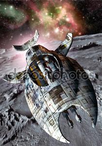 Космический корабль и Луна