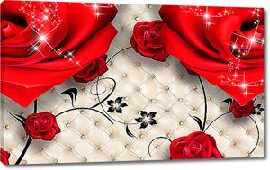 Искры света на ярких розах