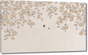Мелкие цветочки с пчелками