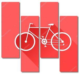 Спортивный велосипед. Векторные иллюстрации.