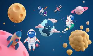 Космонавты и планеты