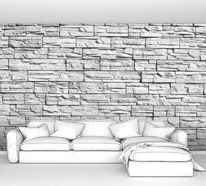 Стена из декоративных камней