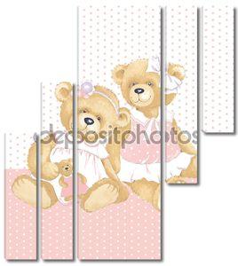 Девочки плюшевых мишек