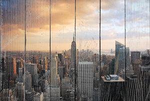 Нью-Йорк на закате с Эмпайр Стейт Билдинг
