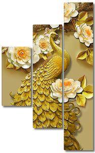 Великолепный золотой павлин