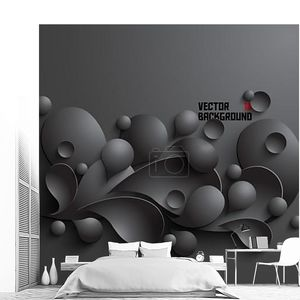 абстрактный 3-й геометрический дизайн черные