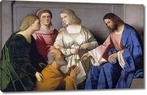 Катена Винченцо. Христос вручает ключи святому Петру