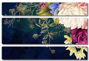 Угловая цветочная композиция