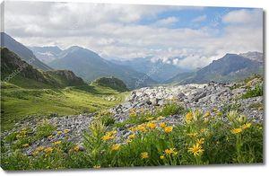 Горный ландшафт в Альпах