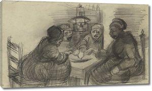Ван Гог. Четыре человека, разделяющие трапезу
