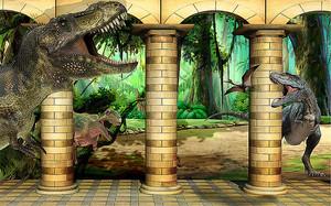 Динозавры среди колонн