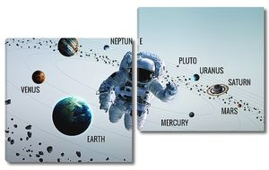 Космонавт и планеты