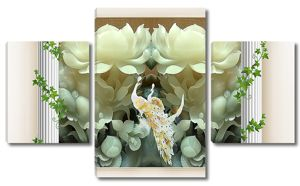 Павлины в нефритовых цветах