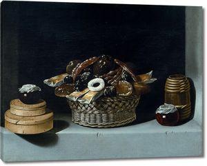 Хуан Ван дер Хамен. Корзина и коробки со сладостями