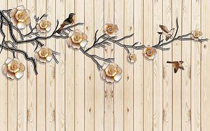 Доски деревянные с веткой