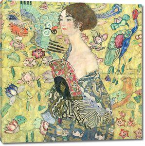 Густав Климт. Дама с веером