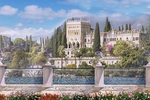 Набережная с видом на прекрасный дом