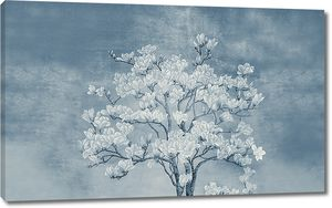 Одинокое дерево сакуры