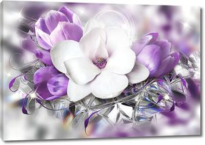 Крупный цветок прекрасной сакуры