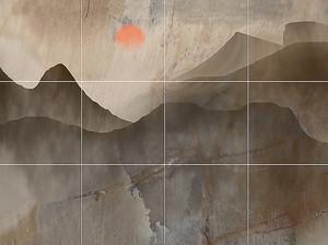 Линия гор на плитке