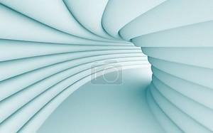 туннель коридор синий линии