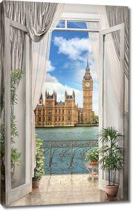 Вид из окна на Биг Бен