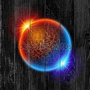 Огонь и лед планеты мяч
