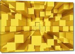 абстрактный мозаичный фон кубы желтые