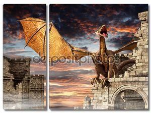 Дракон на замок