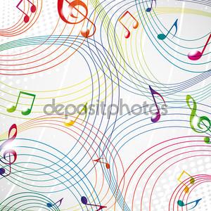 красочная музыка Примечание на сером фоне eps10.