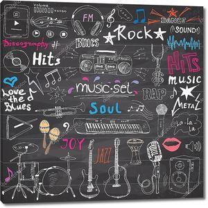 Музыкальная меловая стена