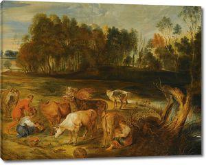 Рубенс. Пейзаж с коровами