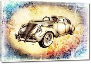 старинный классический автомобиль ретро